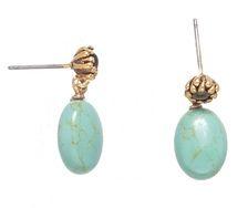 Earrings - Turquoise/Gold - Hultquist Copenhagen - www.legoutdescouleurs.be