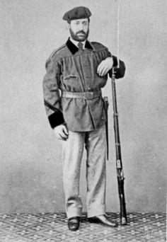 El miliciano liberal Miguel Igarzabal, miembro de los Voluntarios de la Libertad de San Sebastián. (Tercera Guerra Carlista). Catholic, War, Volunteers, Political Freedom, Soldiers, Safety, Roman Catholic