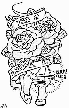 Theres No Place Like Home – Wizard of Oz Inspired embr… – Tattoo Pattern Hand Embroidery Patterns, Vintage Embroidery, Machine Embroidery, Embroidery Designs, Embroidery Sampler, Printable Adult Coloring Pages, Cute Coloring Pages, Coloring Books, Doodle Coloring