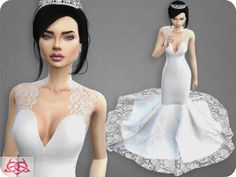 Lana cc finds - wedding dress 8 recolor 2 clothing - female - wedding d Sims 4 Wedding Dress, Wedding Dress With Veil, Wedding Dresses, Sims 4 Mods, My Sims, Sims Cc, Pelo Sims, Sims 4 Cc Kids Clothing, Sims4 Clothes