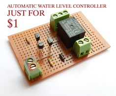 Hello friendsToday I am back with another project called $1 AUTOMATIC WATER LEVEL CONTROLLER.It's an automatic switching circuit that used to control an AC water pump. Operation of this circuit is simple.wen the water level goes below the limit the lower level sensor will detect it and activate the water pump.wen the water level reaches the upper limit the upper limit sensor detect it and switch of the water pump.