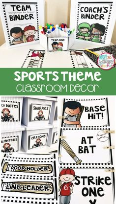 A sports theme classroom is a fun way to focus on teamwork and perseverance! This decor kit includes everything you need to decorate and organize your sports themed classroom.