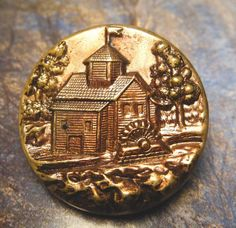 Antique Victorian Button Metal Picture by Butterflybuttons on Etsy