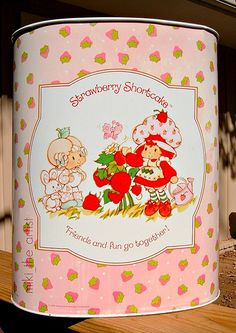 Found at local thrift store, SCORE!!  Strawberry Shortcake Trash Can - Vintage 1982