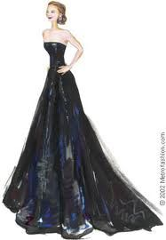 fashion sketches-I can just visualize how this dress is going to look in person :)