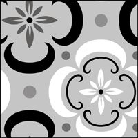 This image just shows a section of the design. Click to see the full stencil design.  Kitchen floor