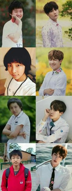 Hyung line || they were cute when they were younger but now they HELLA FINE