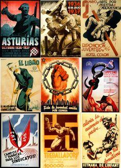 ESPAÑA REPUBLICANA Civil War Heroes, Civil War Art, Spanish War, Propaganda Art, Political Posters, Military History, World War Ii, Vintage Posters, Spanish