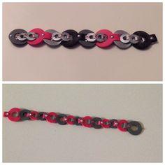 Bracelet, bracelet border dies (Nellie Snellen), fake leather, hotfix stones. Made by me! https://www.facebook.com/pages/Roosjes-sieraden-en-meer/755981661106485