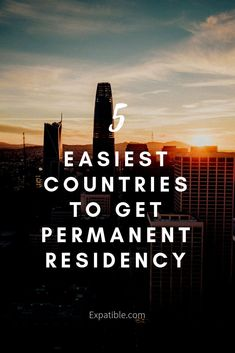 When becoming a citizen of another country is too big of a step to take - or simply out of your reach, obtaining a permanent residency permit will generally solve most immigration problems you might face as an expat. Work Overseas, Moving Overseas, Moving To Uk, Travel Jobs, Budget Travel, Travel Careers, Travel Checklist, Travel Packing, Air Travel