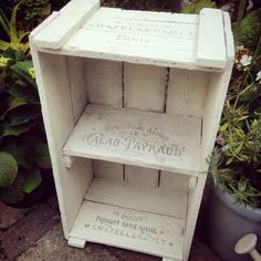 Vintage French wooden crate