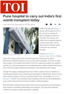 Pune hospital to carry out India's first womb transplant