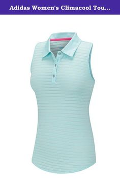Adidas Women's Climacool Tour Mesh Stripe Sleeveless Polo Shirt (Large) Aqua. The climacool® Tour Mesh Stripe Sleeveless Polo is a new warm weather favorite. When you need to stay cool and dry, the climacool® construction provides moisture wicking to keep you at your best. Allows full range of motion. The authentic pullover is new with tag. Imported. Solid Jersey fabric with an all over mesh texture stripe. Climacool construction is Moisture-wicking and faster drying. Longer shaped...