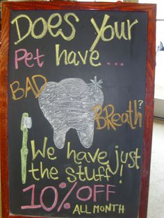 """We have just the stuff!"" Natural Pawz Dental Month in February! Take 10% off all dental products!"