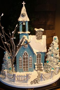 Teal Chapel...by Tracey Pfeiffer  Would make a wonderful gingerbread design!