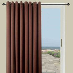 Ultimate Blackout Solid Color Grommet Single Curtain Panel Espresso 112W x 84L >>> To view further for this item, visit the image link.