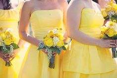 yellow dresses for bridesmaids