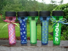 flashlights, cute for a sleepover party favor.