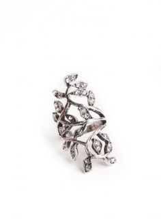 Jeweled Leaves Ring $13.00
