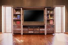 Beautiful solid wood TV stand and piers with a hand-rubbed multi-color finish…