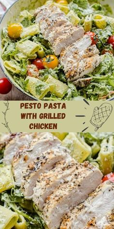 This homemade pesto pasta with grilled chicken, cherry tomatoes and arugula is everything that a springtime and summer dishes should be about! Loaded with fresh flavours and nutrients, it takes no longer than 40 minutes to prepare!