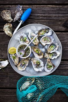 Meandering Marin County | Fresh Oysters with Mustard Seed, Cucumber, Dill…