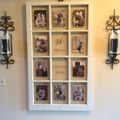 Old barn window becomes a picture frame! - Click image to find more Home Decor Pinterest pins