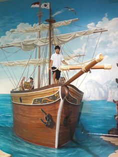 Foto - Google Fotos 3d Art Museum, Street Artists, Sailing Ships, Boat, Photo And Video, Google, Islamic, Pictures, Kunst
