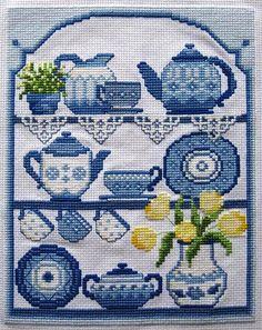 Blue China (my fave) Cross Stitch - lovely!