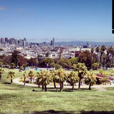 Dolores Park is a city park in San Francisco, California. It is located two blocks south of Mission Dolores at the western edge of the Mission District