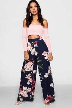 e1eac673e427 Oriental Wide Leg Trouser - boohoo how to wear, how to style, outfit ideas