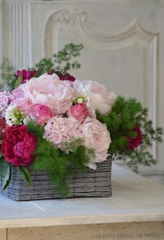 Floral Arrangement ~ shades of pink