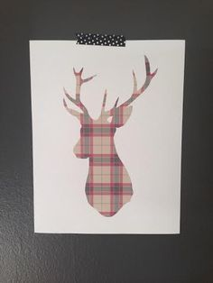 Free Printable Stag Head (Two Versions)