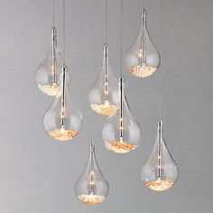Maybe I could put this in my library. But I'll have to check the size. It might be too big... or too over the top.    Sebastian 7 drop ceiling light from @John Searles Searles Searles Lewis -