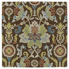 Anabelle Chocolate Floral Hand-Tufted Wool Rug (9'9 x 9'9 Square) - Free Shipping Today - Overstock.com - 18713065