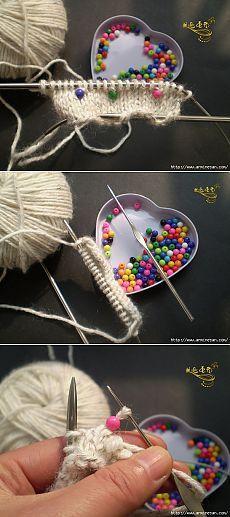 Вязание с бисером спицами