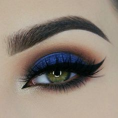 Perfect Winged Liner w/ Blue & Neutral Tone Eyeshadow #makeup #beauty #EyeMakeup