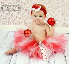 Baby Christmas Tutu only, Holiday dress up for girls, Baby's 1st Christmas red and white, any size 0,3,6,9,12,18, 24 months -CANDY CANE GIRL. $24.95, via Etsy.