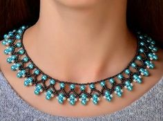 Free pattern for necklace Protaras                                                                                                                                                     More