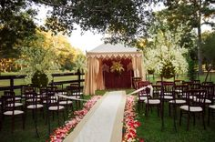 Outdoor Wedding Aisle Runner Decorations