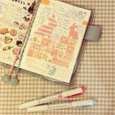 Hobonichi Planner *ほぼ日* 귀여운 토끼 스티커 - gumi0414 @ Instagram Web Interface - 5th village