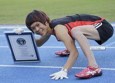 Japan's 'monkey man' breaks his own Guinness World Record for running on all fours
