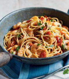 Chilli-tomato-and-prawn-pasta - replace with garlic oil, gf pasta