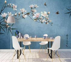 Wallpaper Peony Blossom Wall Mural Chinese Floral Wall Print Asiatic Home Decor Cafe Design Peacock Wallpaper Peony Blossom Wall Mural Chinese Floral Wall Peacock Wallpaper, Chinoiserie Wallpaper, Trendy Wallpaper, Wall Wallpaper, Wallpaper Size, Bedroom Wallpaper, Painted Wallpaper, Café Design, Decorating Rooms