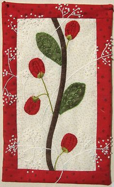 Flowers and French knots by Vivane Schreck-Faivre as seen at Cotton & Color (France)
