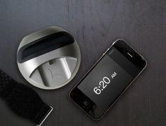 LARK alarm...gently vibrating wrist band to wake you up...so you won't disturb anyone else
