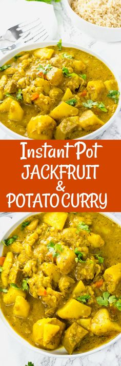 Instant Pot Jackfruit and Potato Curry #vegan #gluten-free #jackfruit