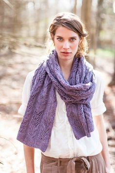 BrooklynTweed WHEATEN CABLE & LACE SCARF, STOLE OR BLANKET