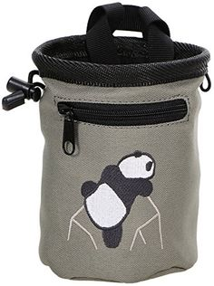Climbing-AMC(TM) Climbing Panda Compact Chalk Bag with Belt, 340_gray * Details can be found by clicking on the image.