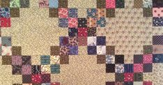 The quilt bug found me in April. Unfortunately, I only had scrap strips at hand. I decided to make four patch blocks and worry about...